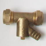 15mm Compression Coupling with Integral Drain Off - 24831500